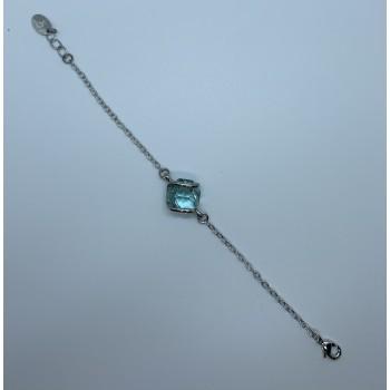 bracelet chainette avec un cristal