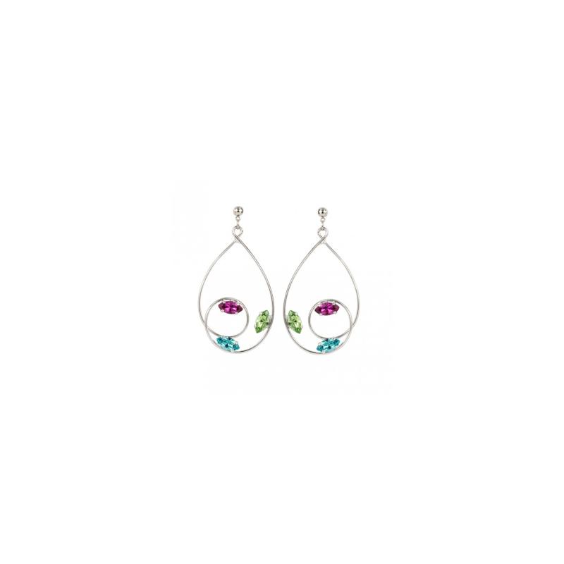 Boucles d'oreilles L.A  multicolor