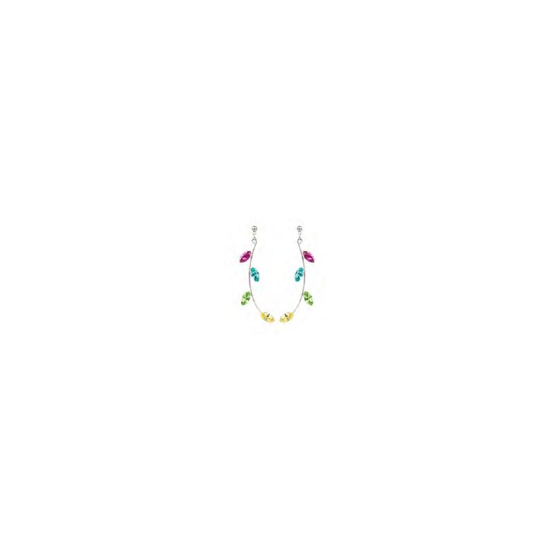 Boucles d'oreilles longues L.A Multicolor
